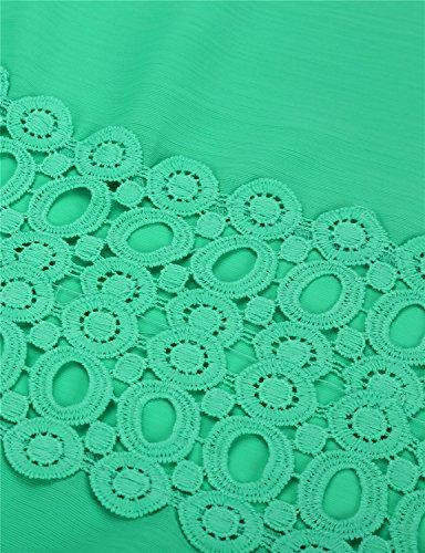 Bagno Vestito V Cover Camicia Sexy Casual Bikini Abito da Chiffon Spiaggia Up Scollato Da Pareo Curve a Costumi Copricostume Mare Luojida Verde wEAv6qXFz