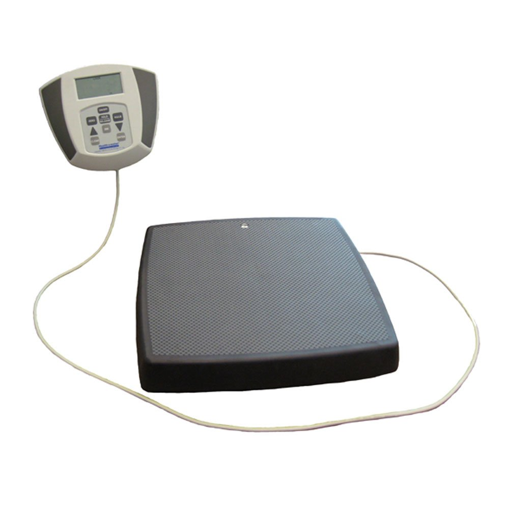 Health O Meter 753KL Digital Scale, Heavy Duty Remote Display, Legal for Trade, Capacity 600 lbs., 14-1/4'' x 14-1/4'' x 2-5/8'' Platform