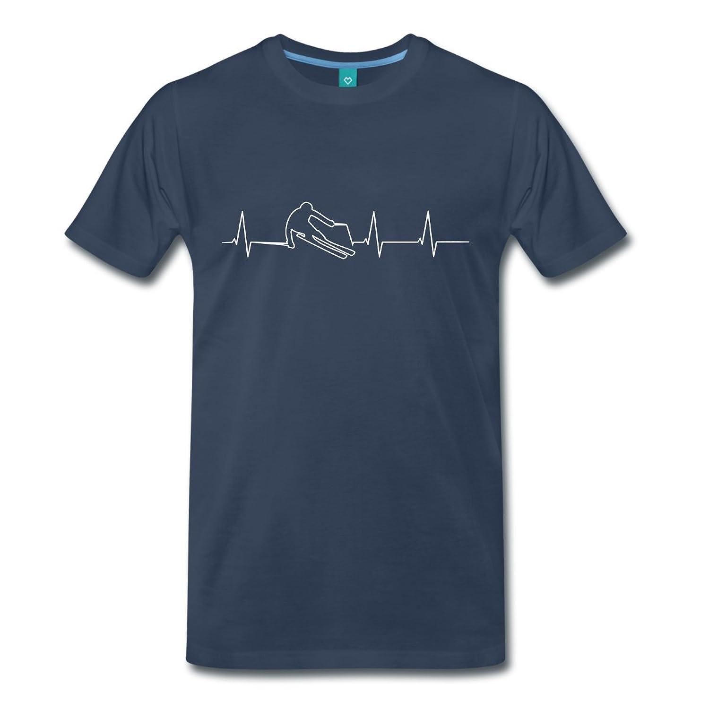 Skifahrer Herzfrequenz Männer Premium T-Shirt von Spreadshirt®