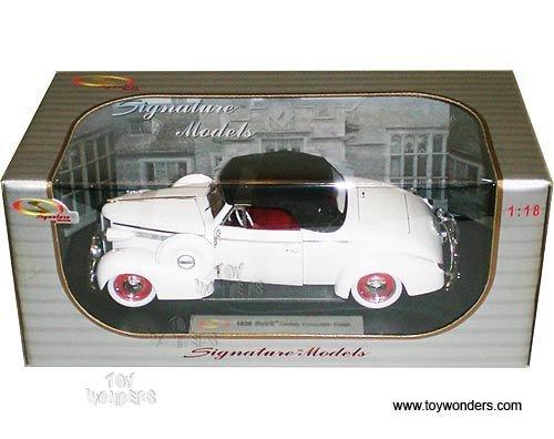 carolirala 18131w Signature Models - Buick Century Convertible Coupe (1938, 1:18, White) 18131 Diecast Car Model Auto Vehicle Automobile Metal Iron Toy Buick Century Diecast Model