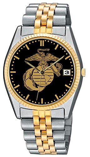 Frontier Us Marines - U.S. Marine Corps Stainless Steel Frontier Mens Watch - 30m Water Resistant