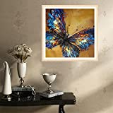 DIY 5D Diamond Painting by Number Kits-Full Drill Crystal Rhinestone Embroidery Paintings for Home Wall Decor,Cross Stitch kits Paintings Craft (Butterfly 3)