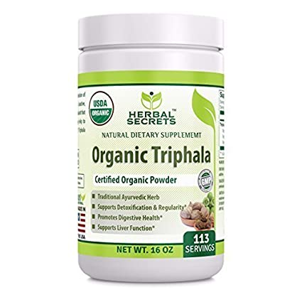 Herbal Secrets USDA Certified Organic Triphala 16 Oz(1 Lb) Gluten-Free,