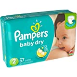 Pampers Size 2 Baby Dry Diaper, 37 count per pack - 4 per case.
