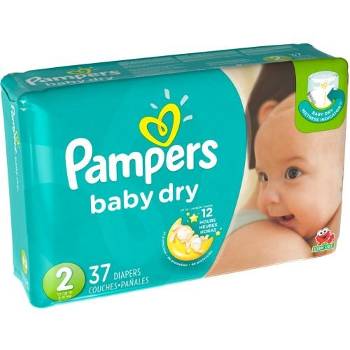 Price comparison product image Pampers Size 2 Baby Dry Diaper, 37 count per pack - 4 per case.