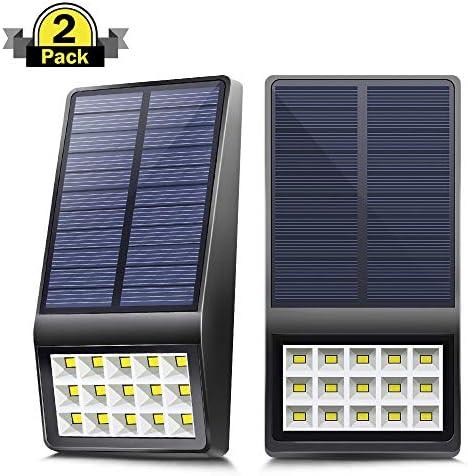 Aogist Solar Lights Outdoor,15 LED Solar Motion Sensor Lights Solar Security Lights Wireless IP 65 Waterproof Outdoor Lights for Garden,Fence Patio,Front Door,Yard, Garage,Deck 2pack