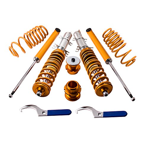 Vw Jetta Coilovers - maXpeedingrods Coilovers Lowering Suspension Kits for VW Golf MK4 1998-2003, Jetta MK4 1998-2004, Audi A3 MK1 1996-2003, New Beetle 1997-2011