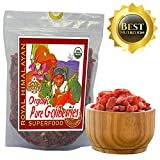 Top Nutrition - Royal Himalayan Raw Goji Berries - Certified Organic - Smoothies, Snacks, Salads, Trail Mixes - 14 Ounce