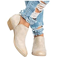 Women's Ultra Comfortable and Soft Lining Slip on Low Heel Closed Pointed Toe Boot