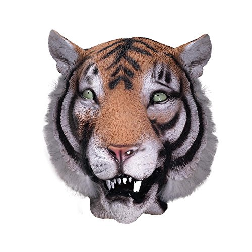 Forum Novelties Tiger Mask : Deluxe Latex Animal Mask ()