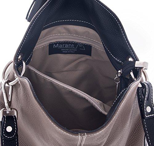 Marant Borsa Donna Artigianale in vera pelle 100% Made in Italy Noemi Small nero