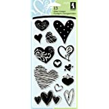 Inkadinkado Hearts Clear Stamps