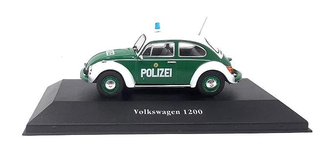 VW Käfer Polizei Modellauto Auto grün LIZENZPRODUKT 1:34-1:39