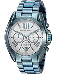 Michael Kors Womens Quartz Stainless Steel Casual Watch, Color:Blue (Model: MK6488)