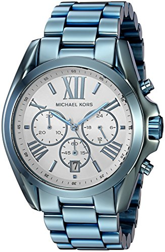 Michael Kors Women's Quartz Stainless Steel Casual Watch, Color:Blue (Model: MK6488)