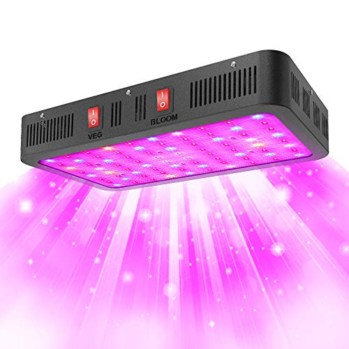 GROSSYLAND 2000W LED Grow Light Full Spectrum with IR and UV for Indoor Plants Veg and Flowers,led Plant Growing Lamps with Daisy Chain Function