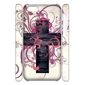 C-EUR Diy 3D Case Jesus Christ Cross for iPhone 5C