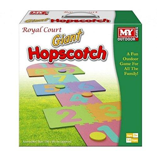 Giant Hop Scotch Indoor Outdoor Garden Fun Family Hopscotch Game Set Foam Mat by KT