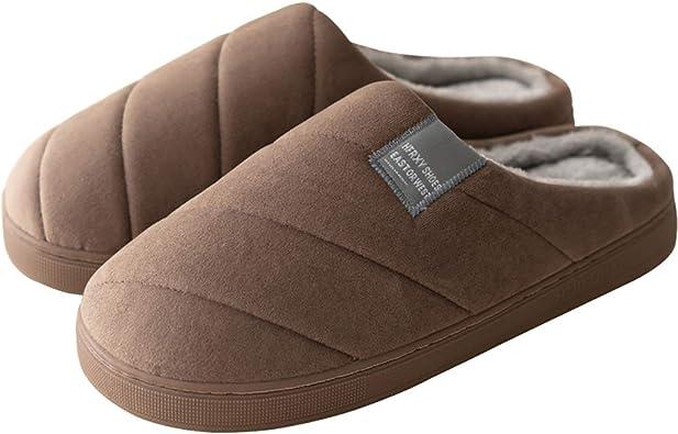 Zapatillas de Interior Mujer Hombre Zapatos Invierno Algodon Casa Slippers Caliente Pantuflas Felpa Antideslizantes ...
