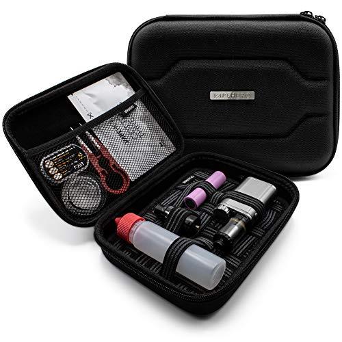 VapeHero® E-Zigarette Tasche mit Premium Matte zum herausnehmen | Dampfer Etui für Liquid Flaschen und Zubehör | Passend…
