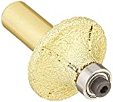 3/16 Inch 3/8 Inch 1/2 Inch 3/4 Inch Diamond Brazed Router Bit 1/2-Inch Shank for marble granite glass stone tile cutting edge grinding half roundover bullnose work with drill chuck -  Diamond Abrasive and Power Tools