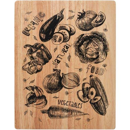 14 inch Wood Cutting Board, Veggies ()