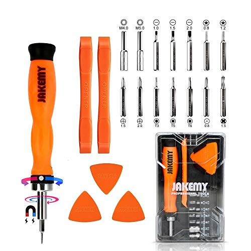 PC Tool Kit, Jakemy Ratchet Repair Screwdriver Set, Torx screwdriver 20 in 1 for iPhone X, iPhone 8/8 Plus/7/7 Plus/6/6 Plus/6S/5/5C/5S/4/4S/iPad 4/3/2/Mini, Laptop ()