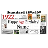 1922 PERSONALIZED BANNER by Partypro