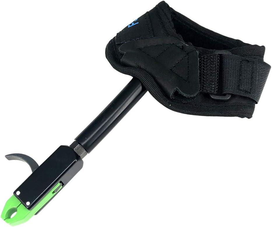Verde VORCOOL Adjustable Archery Release Aid for Compuesto Arco Composite Nylon Mu/ñequera Correa Disparo de Arco