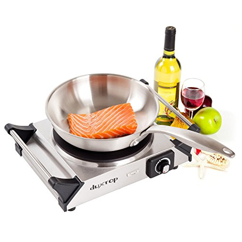 DUXTOP 1500W Portable Electric Cast Iron Cooktop Countertop Burner (Single)