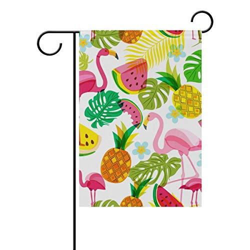 ts Flamingos Seasonal Holiday Garden Yard House Flag Banner 12 x 18 inches Decorative Flag for Home Indoor Outdoor Decor ()