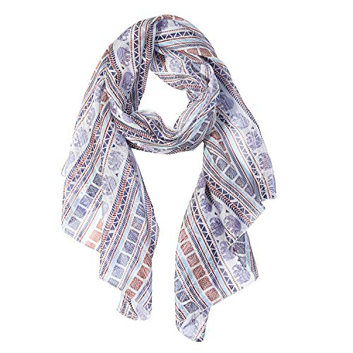 (Elepants Scarfs for Women Lightweight Elephant Print Shawl Head Wraps (Elephants))