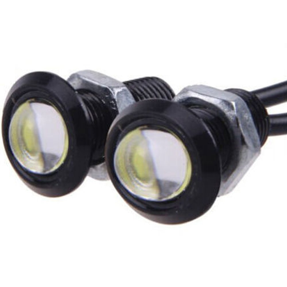 E Support/™ 6Pcs 9W LED DRL Eagle Eye Light Car Motor Fog Daytime Reverse Signal DRL Backup White LED Bulb