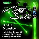 Light Stix LED Light Up Drumsticks (Green) (Color: Green)