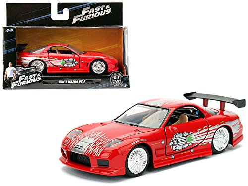 Rx 7 Car Mazda Red - Dom's Mazda RX-7 Red Fast & Furious Movie 1/32 Model Car by Jada