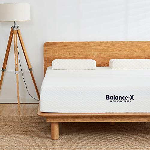 HOFISH 2019 Upgraded Balance-X 10 Inches Responsive Foam Mattress -Lumbar Support & Pressure Relief-CertiPUR-US Certified Memory Foam-Medium Feel-Queen Size