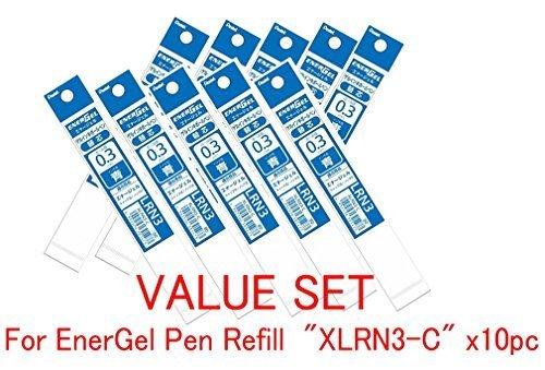 Pentel Refill Ink for EnerGel Liquid Gel Pen / 0.3mm Blue Ink / Value Set of 10 Refills (With Our Shop Original Product Description) ()