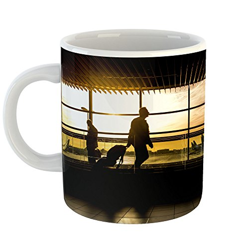 Westlake Art - Airport International - 11oz Coffee Cup Mug - Modern Picture Photography Artwork Home Office Birthday Gift - 11 Ounce ()
