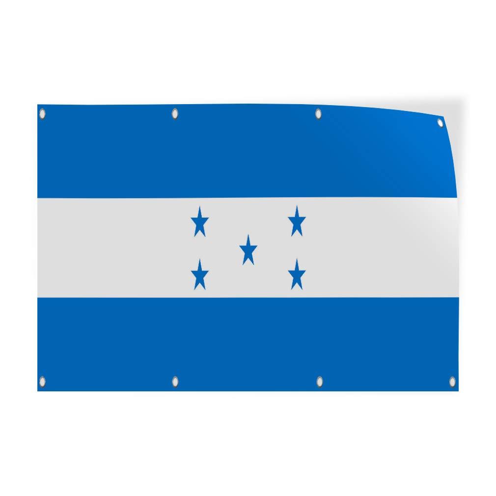 Decal Sticker Multiple Sizes Honduras Flag BlueWhite Countries Honduras Flag Outdoor Store Sign Blue Set of 2 52inx34in