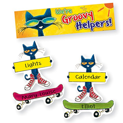 Edupress Pete the Cat Groovy Classroom Jobs Mini Bulletin Board (EP60348) (Pete The Cat Bulletin Board)