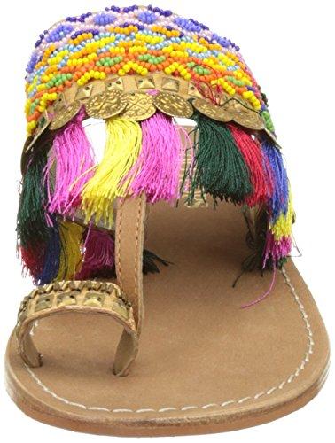 Lollipops Ouvert Zodiac Bout tan Femme Sandales Toe Multicolore Post qZ6Hq