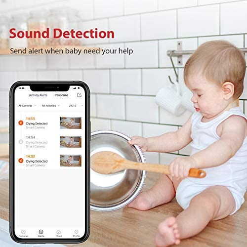 51hVfn7D9TL. AC Baby Monitor, Victure 1080P HD Baby Monitor with Camera, Smart Motion Tracking and Sound Detection, 2.4G WiFi Home Security Camera Indoor IP Surveillance Pet Camera with Night Vision, 2-Way Audio    Product Description