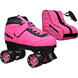 New! 2016 Epic Nitro Turbo Pink Indoor/Outdoor Quad Roller Speed Skates Bundle