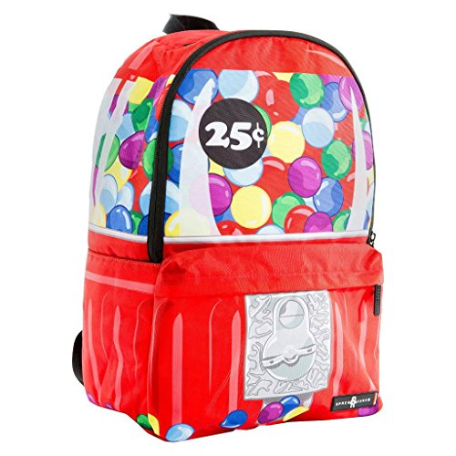 "Price comparison product image Space Junk 18.5"" Gum Ball Machine Backpack - Red"