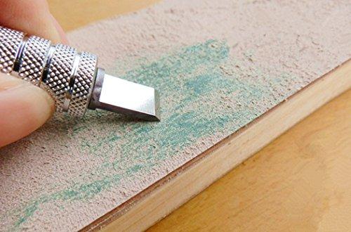 Inton Leathercraft Knife Blade Sharpener Whetstone Stand Rouge Stick Leather Sharpener Grinding Set (Japanese) by Inton (Image #5)
