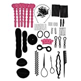 niceEshop(TM) Donut Bun Maker Fashion Hair Design Styling Tools Accessories Hairdress Kit Set