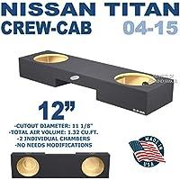 Nissan Titan Crew Cab Sub box Dual 12 Subwoofer Enclosure