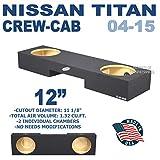 nissan titan subwoofer - Nissan Titan Crew Cab Sub box Dual 12