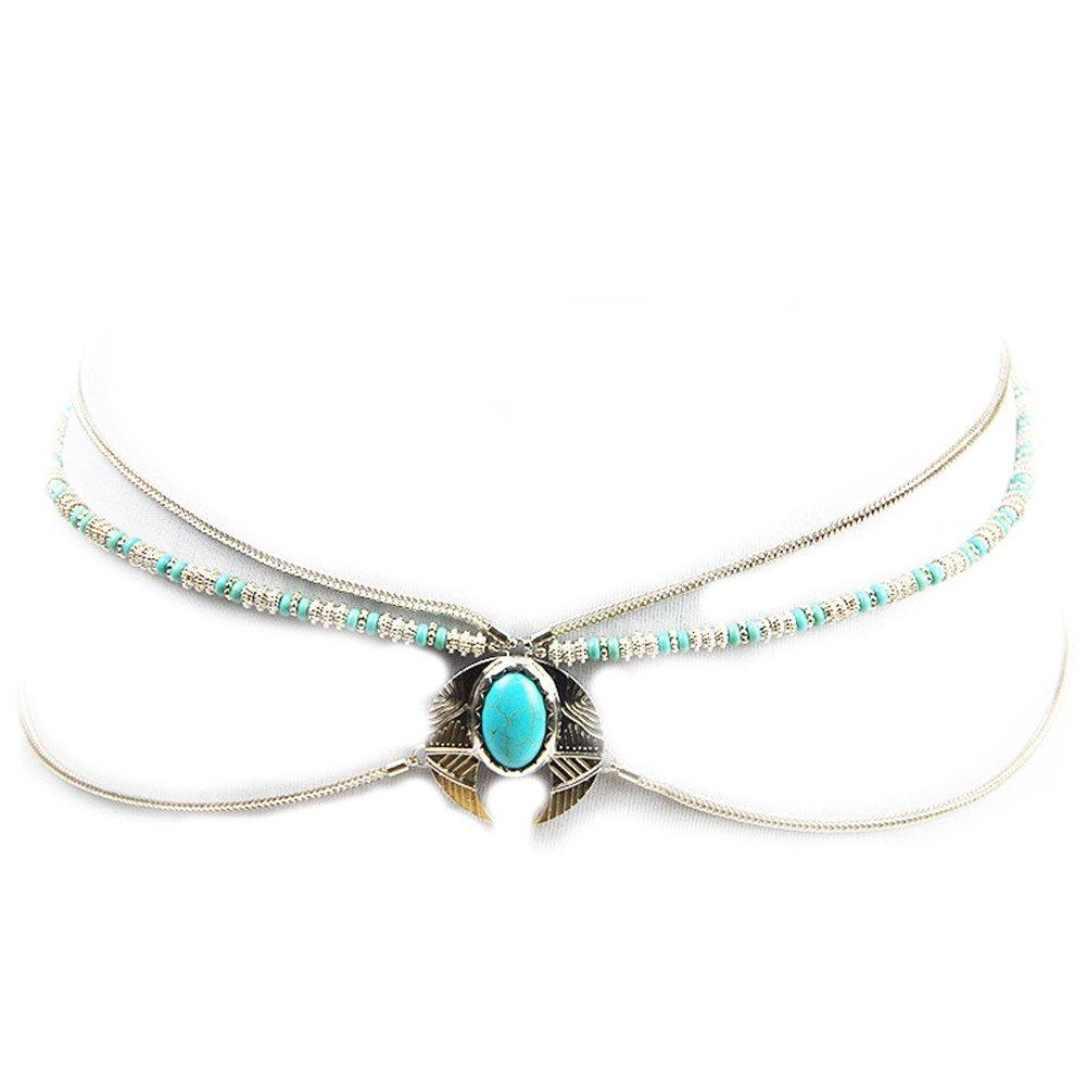 Sexy Waist Belt Imitation Gems Belly Unibody Body Chain(Silver)