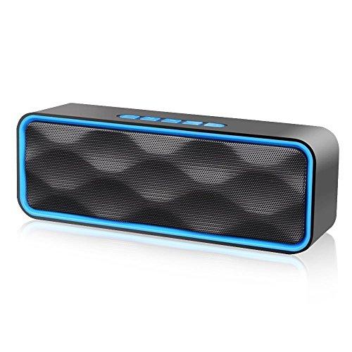 Wireless Speaker,Bluetooth Speaker, iGearPro Portable Outdoor Stereo Wireless Bluetooth Speaker with HD Audio and Enhance Bass, Dual Driver Speakerphone, Handsfree Calling (Blue)